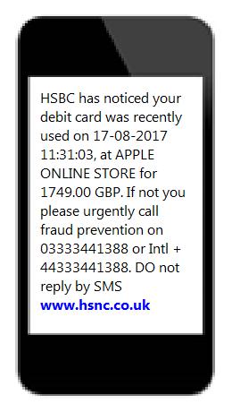 Received a text? | Security Centre - HSBC UK