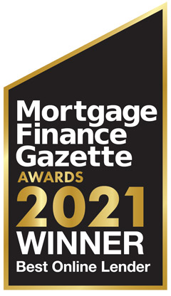 Mortgage Finance Gazette 2021 Award - Winner of Best online Lender