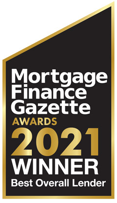 Mortgage Finance Gazette 2021 Award - winner of Best overall Lender
