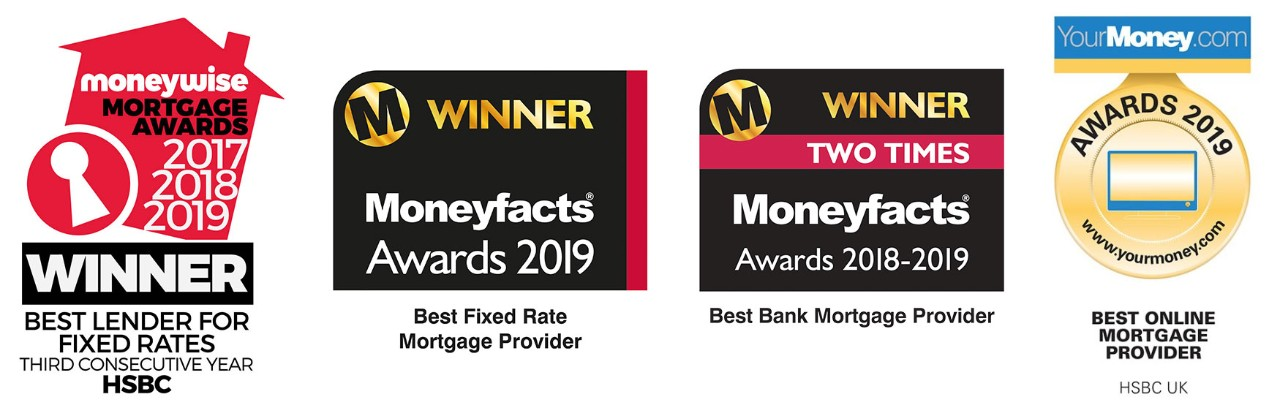 In 2019, HSBC won the Moneywise mortgage award for Best Lender for Fixed rate mortgages for the third time, Moneyfacts award for Best Bank Mortgage provider for the second time, Moneyfacts award for best Fixed Rate Mortgage provider and the YourMoney.com Award for Best Online Mortgage Provider