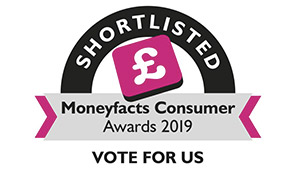 Moneyfacts Consumer Awards 2019. Vote for us.