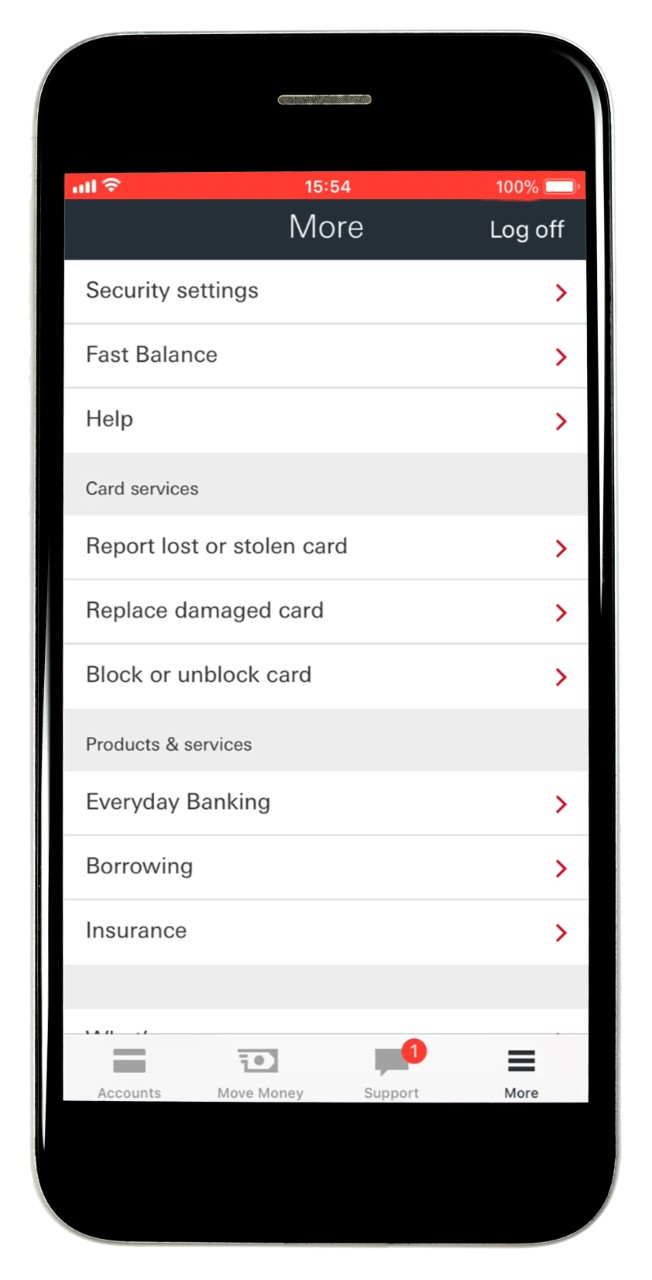 hsbc mobile banking security number