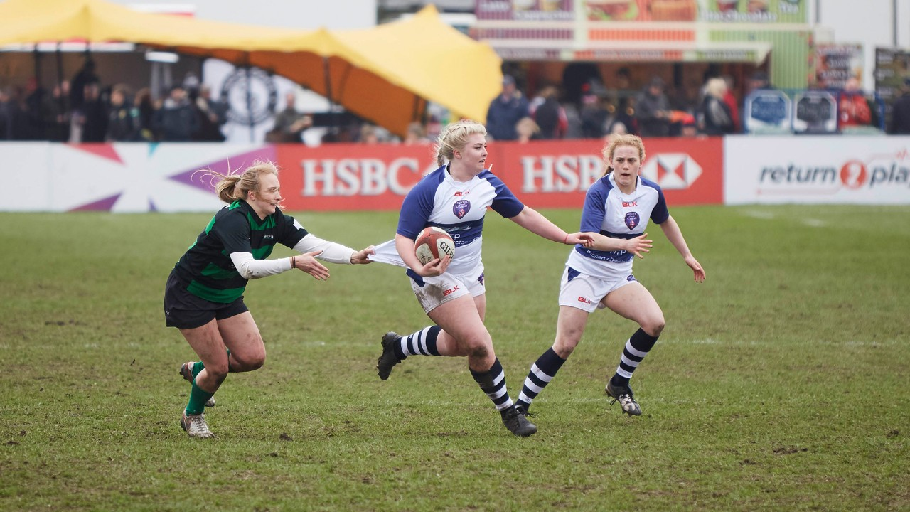 Group of girls playing rugby
